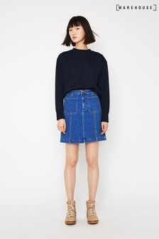 Warehouse Seam Detail Denim Mini Skirt