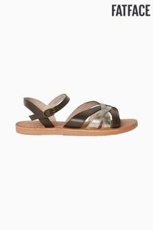 FatFace Gold Marlow Multi Strap Sandal