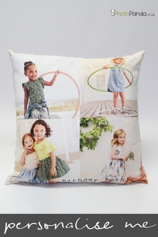 """Personalised 24x24"""" Faux Suede Photo Cushion By Photo Panda"""