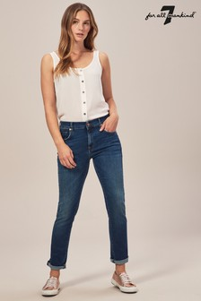 7 For All Mankind® Relaxed Skinny with Raw Hem Slim Illusion
