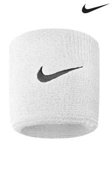 Nike White Swoosh Wristband