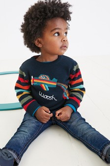 Rainbow Plane Jumper (3mths-7yrs)