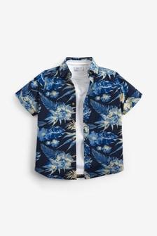 Patterned Shirt And T-Shirt Set (3-16yrs)