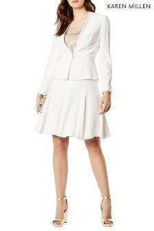 Karen Millen Cream Sharp Summer Skirt