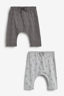 2 Pack Giraffe Trousers (0mths-2yrs)