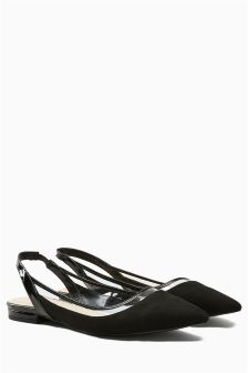 See Through Detail Slingbacks