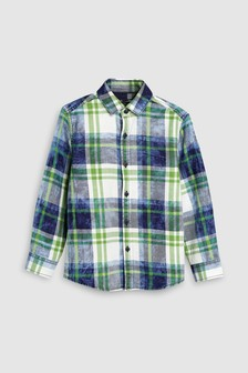 Long Sleeve Washed Check Shirt (3-16yrs)