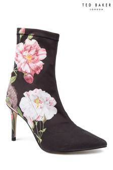 Ted Baker Black Iguazu Floral Elzbet Sock Boot