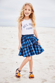 Check Dress And Leggings Set (3-16yrs)