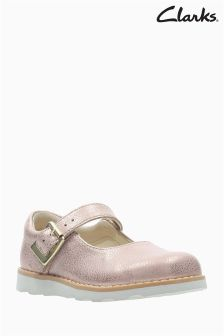 Clarks Copper Leather Crown Honour Mary Jane First Shoe