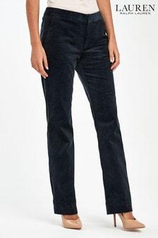 Lauren Ralph Lauren® Navy Corduroy Straight Trousers