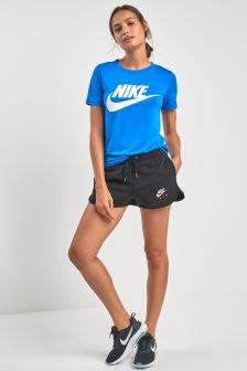 Nike Air Fleece-Shorts, schwarz