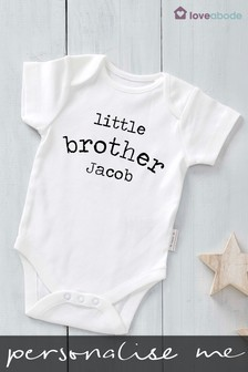 Personalised Little Brother Bodysuit by Loveabode