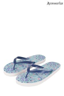 Accessorize Blue Blue Maui Mandala Flip Flop