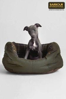מיטה לכלב בדוגמה סקוטית של Barbour® בירוק