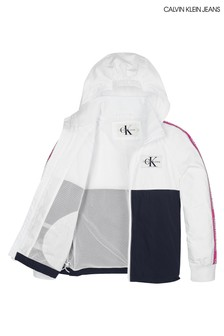 Calvin Klein Jeans Girls Logo Tape Windbreaker