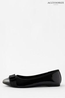 Accessorize Black Metal Bar Loafers