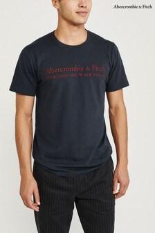 Abercrombie & Fitch Navy Short Sleeve Logo T-Shirt