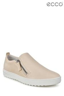 ECCO® Nude Side Zip Slip On Shoe
