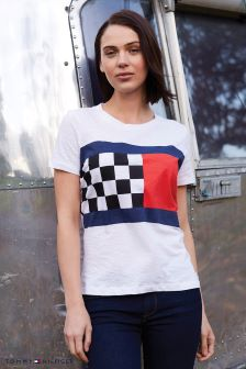 Tommy Hilfiger White Blake Flag T-Shirt