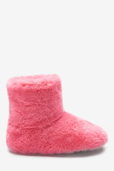 Faux Fur Slipper Boots (Younger)