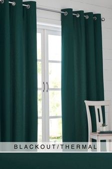 Eyelet Blackout/Thermal Cotton Curtains
