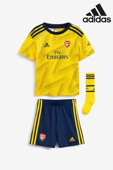 adidas Little Kids' Arsenal Yellow Away 19/20 Mini Kit