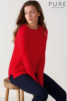 Pure Collection Gassato Soft Textured Rib Sweater