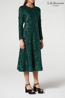 L.K.Bennett Green Lazia Dress
