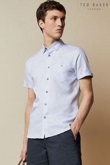 Ted Baker Havefun Short Sleeve Linen Mix Shirt