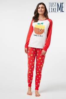 Womens Matching Family Pudding Pyjamas