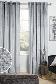 Silver Grey Harper Eyelet Curtains