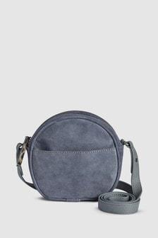 Кожаная круглая сумочка