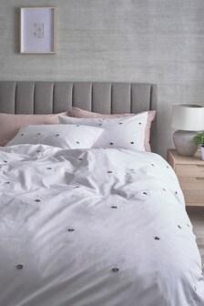 Satin Tuft Duvet Cover And Pillowcase Set
