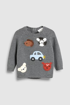 Animal Knitted Jumper (0mths-2yrs)