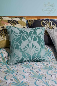 The Chateau by Angel Strawbridge Deco Heron Cushion