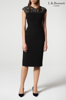 L.K.Bennett Black Hensley Dress