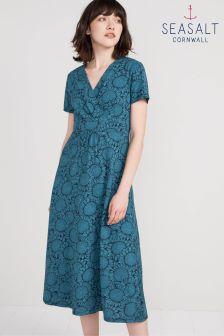 שמלה של Seasalt דגם Sunflower Garden בצבע כחול כהה
