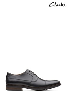 Clarks Black Becken Cap Shoe