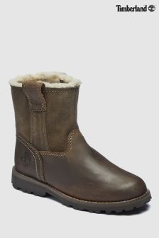 Timberland® Chestnut Leather Ridge Warm Lined Pull On Faux Boot