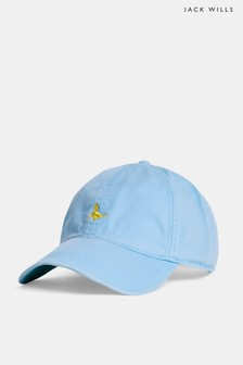 Jack Wills Sky Blue Enfield Striped Pheasant Cap