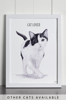 Cat Lover by Jane Bannon Framed Print