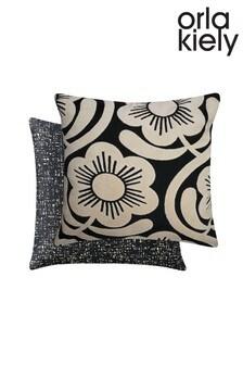 Orla Kiely White Ground Apple Blossom Cushion