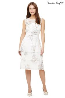 Phase Eight Ivory Luca Printed Dress