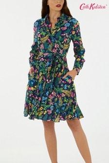 Cath Kidston® Blue Twilight Garden Shirt Dress