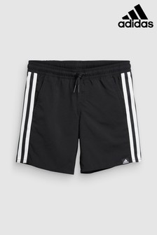 adidas Black 3 Stripe Swim Short