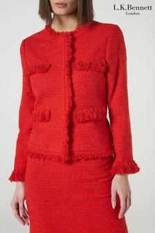 L.K.Bennett Red Myia Jacket