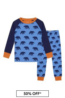 Boys Organic Cotton Dark Blue Pyjamas