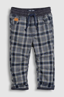Check Jersey Lined Pull-On Trousers (3mths-6yrs)