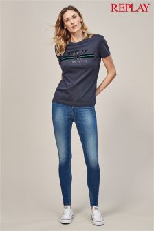 Replay® Joi Mid Wash High Rise Jegging